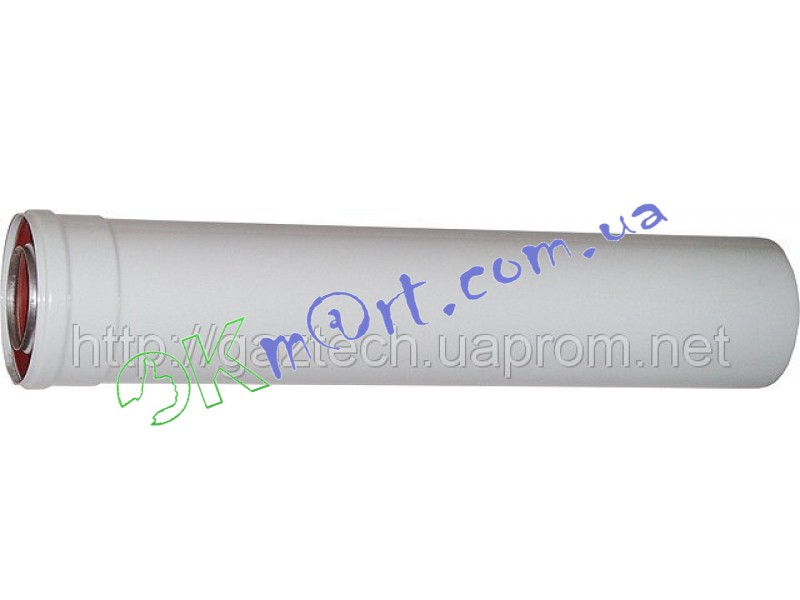 Удлинитель коаксиального дымохода для конденсационного котла 0.5м.