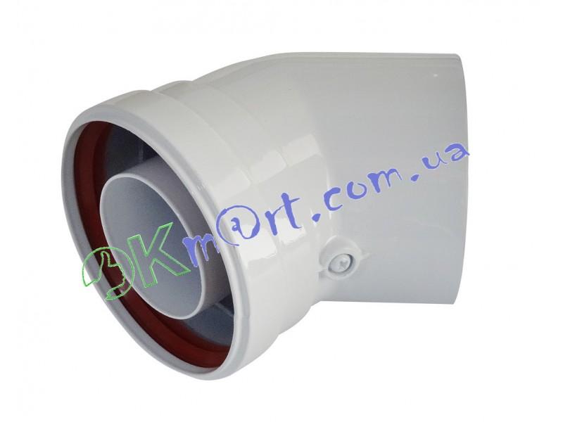 Соединительное колено 45° Ф 60/100 (папа-мама) для газового котла.