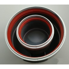 Колено коаксиального дымохода 45° (папа-мама-папа-мама) CW010