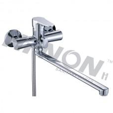 Смеситель для ванной однорукий с длинным изливом евродивертор H066
