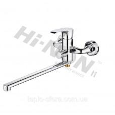 Смеситель для ванной однорукий с длинным изливом евродивертор H166
