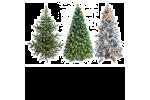 Искусственная новогодняя елочка и украшения