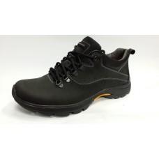 Кроссовки мужские черные, кожаные. Украина 2569