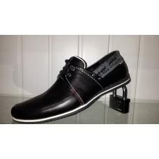 Мужские кожаные мокасины Левис на шнурках 22