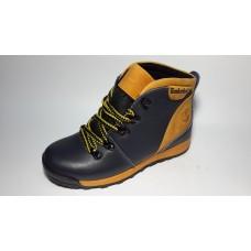 Подростковые ботинки Timberland из натуральной кожи сине-желтые. Украина