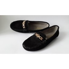 Мокасины allshoes черного цвета из натуральной замши. Украина.