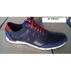 Кожаные мужские кроссовки большие размеры 46-50. м-8 син