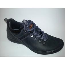 Черные мужские кожаные кроссовки. Украина
