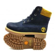 Подростковые ботинки Timberland синего цвета Украина