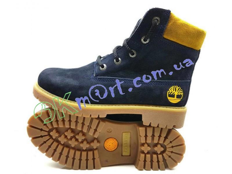 OkMart - Подростковые ботинки Timberland синего цвета Украина 202 син 56037a7c98868