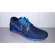 Мужские кроссовки летние - сетка Nike. Украина 3007 син