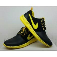 Подростковые кроссовки Nike черно-желтые. Украина