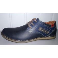 Мужские кожаные туфли синего цвета. Харьков