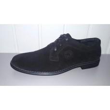 Мужские замшевые туфли на шнурках код 8801. Украина