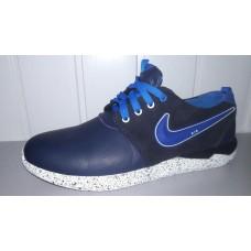 Кроссовки Nike Roshe Run из натуральной кожи. Украина 3001 син