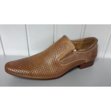 Мужские летние туфли TJTJ из натуральной кожи. Польша 87105