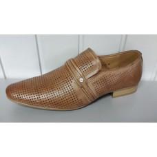 Мужские летние туфли TJTJ коричневого цвета. Польша 15690-хм