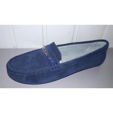 Мокасины allshoes из натуральной замши синие. Украина.