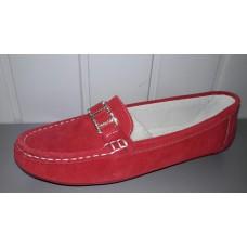 Мокасины allshoes из натуральной замши красные. Украина.