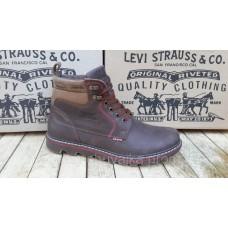 Ботинки коричневые Левис зимние. 7604 Турция.