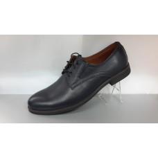 Мужские кожаные туфли на шнурках. Харьков  4602 синий