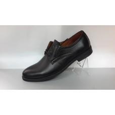 Мужские кожаные туфли на шнурках. Харьков 4602 черные
