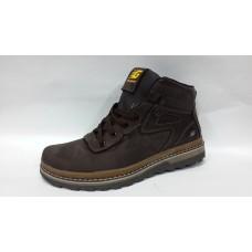 Зимние мужские ботинки 7531 коричневые