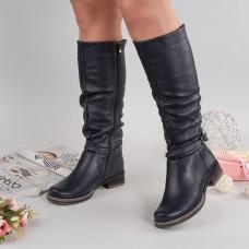 Женские кожаные зимние сапоги. Украина