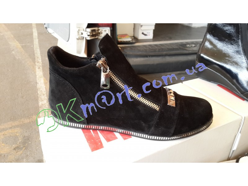 Женские замшевые ботинки больших размеров. Украина