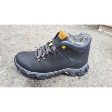 Подростковые зимние кожаные ботинки на мальчика. Харьков
