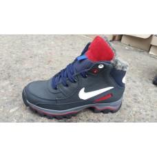 Подростковые зимние кожаные ботинки Nike на мальчика. Харьков