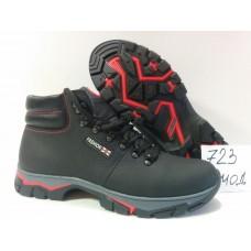Зимние мужские кожаные ботинки. Харьков 723 чк+красн