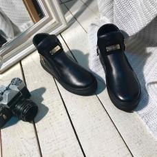 Женские демисезонные кожаные ботинки.Украина