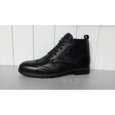 Зимние мужские кожаные ботинки Оксфорд. Харьков 5307