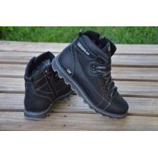 Зимние мужские кожаные ботинки Caterpillar. Харьков сат чк