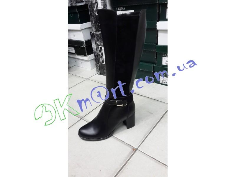 a674dddc048a OkMart - Женские зимние кожаные сапоги на каблуке. Украина 1432