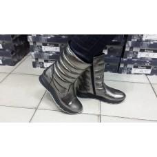 Кожаные женские ботинки-дутики. Украина