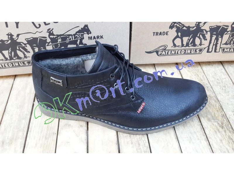 Ботинки черные мужские зимние Левис.
