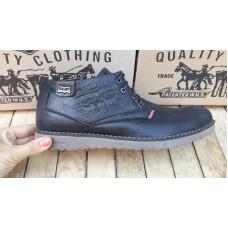 Ботинки черные мужские зимние Левис. Турция 5301