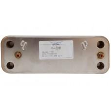 Теплообменник вторичный, пластинчатый Alfa laval для Baxi. 16 пластин. 20490089