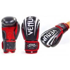 Перчатки боксерские на липучке VENUM (р-р 10-12oz, черный)