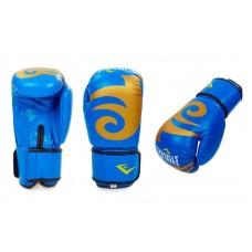 Кожаные боксерские перчатки на липучке EVERLAST. Рукавички боксерські