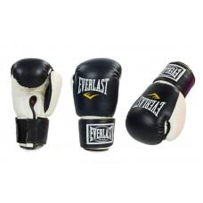 Перчатки боксерские  EVERLAST розовый, черный, красный 8-12 oz. Рукавички боксерські