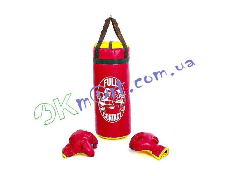 Боксерский набор детский (перчатки+мешок) RED