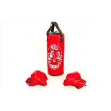 Боксерский набор детский (перчатки+мешок) h42, d18 . Боксерський набір дитячий