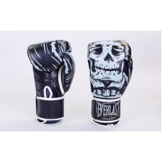 Перчатки боксерские EVERLAST SKULL BLACK. Рукавички боксерські