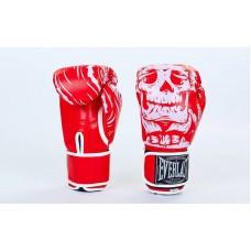 Перчатки боксерские EVERLAST SKULL 5493R. Рукавички боксерські