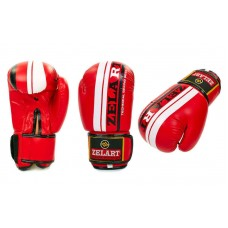 Перчатки боксерские ZELART 4275R. Рукавички боксерські