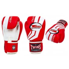 Перчатки боксерские TWINS SPECIAL RED. Рукавички боксерські