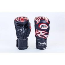 Перчатки боксерские TWINS 5436-BK. Рукавички боксерські